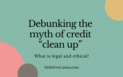 """Debunking the myth of credit """"clean up"""""""